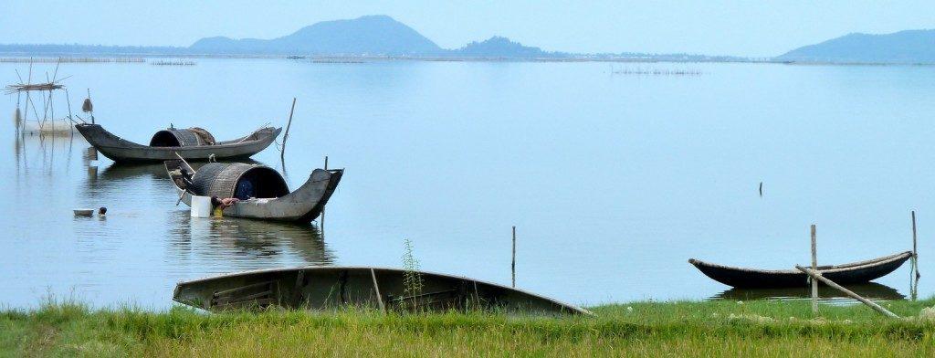 Huong River in Hue, Vietnam