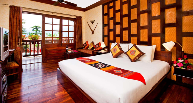 Guest room at Victoria Sapa Hotel