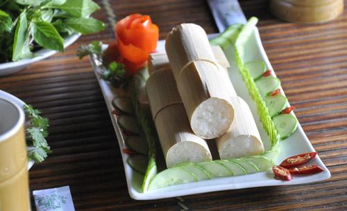 Cơm Lam - Distinctive bamboo tube rice