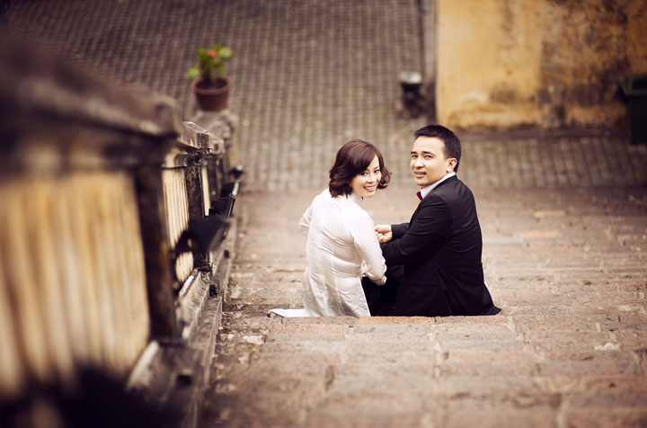 Pre-wedding photography at Hanoi Old Quarter