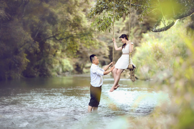 Pre-wedding Photography at Suoi Mo Tourist Area