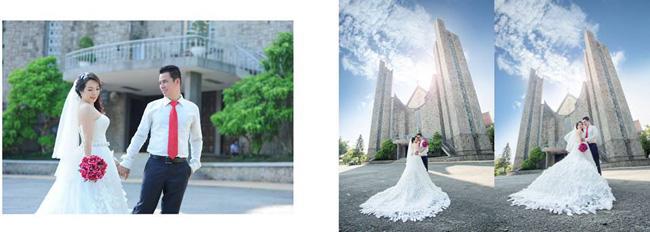 Wedding photography at Phu Cam Church