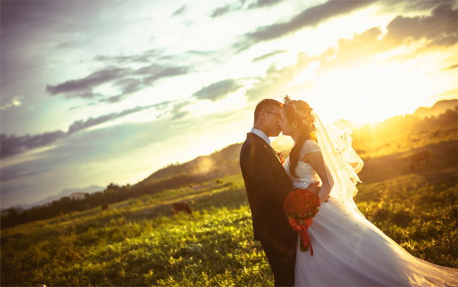Wedding photography at Thien An Hill
