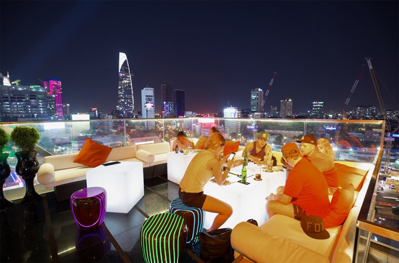 Nice View from Rooftop Bar in Saigon