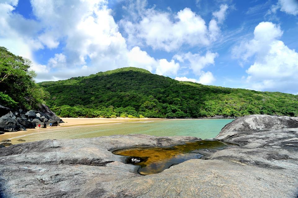 Dam Trau Beach in Con Dao Islands,Vietnam