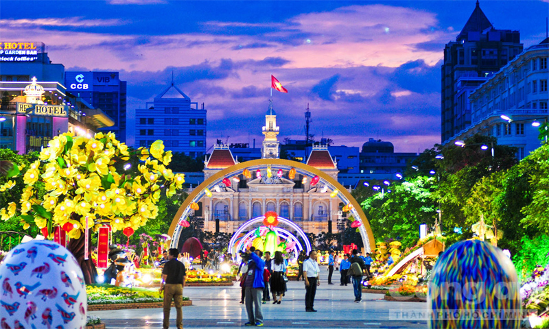 Nguyen Hue Walking Street is the attractive venue during Tet Festival