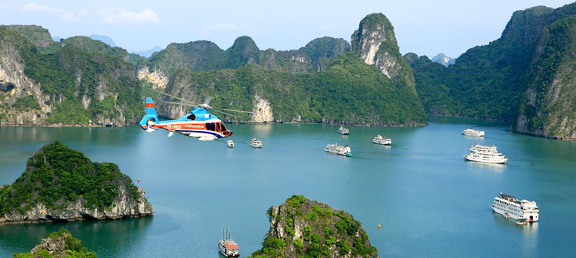 Transfer to Halong Bay by helicopter