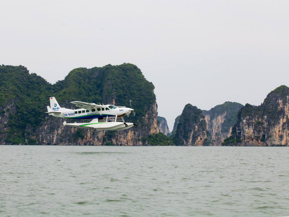 Transfer to Halong Bay by seaplane