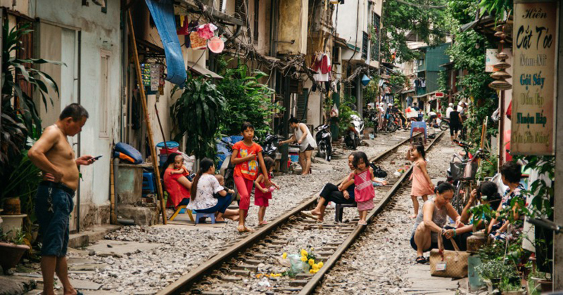 Hanoi Train Street - New Place to check in for young people